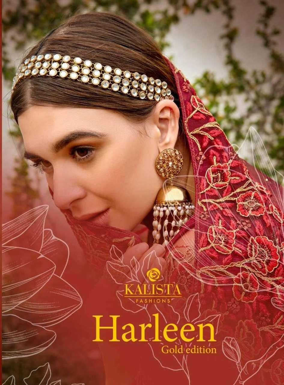 Kalista Harleen Gold Fancy Heavy work Sarees collection