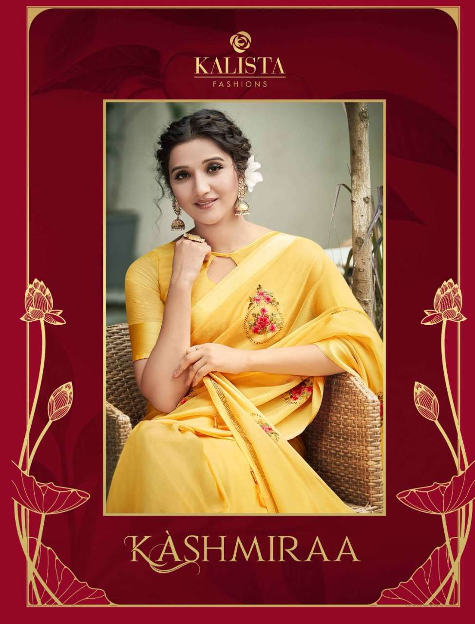 Kalista Kashmiraa Fancy Butta With Swarovski Work Sarees collection