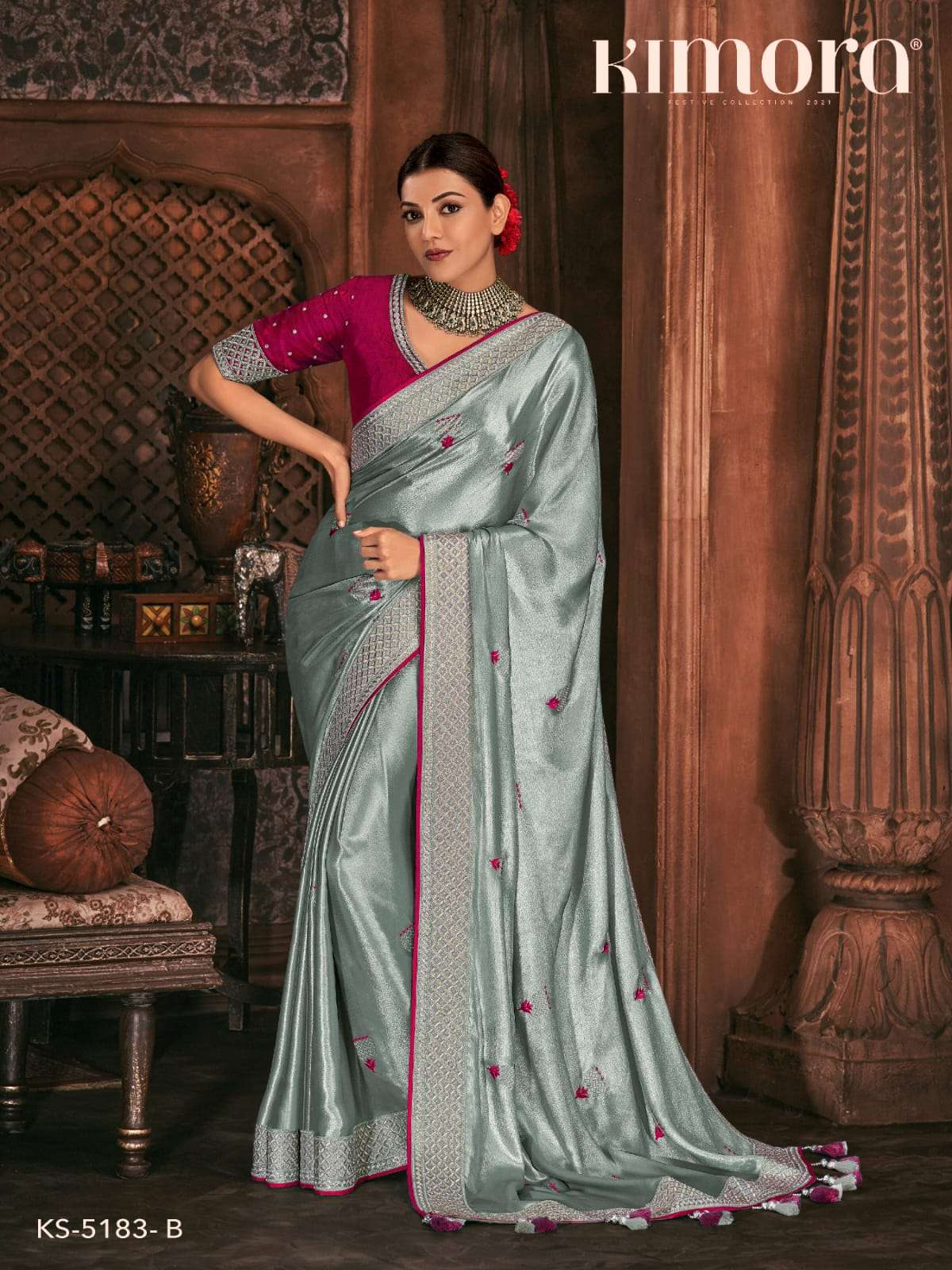 Kimora Fashion Kajal 5183 Colors Fancy Silk Sarees Collection