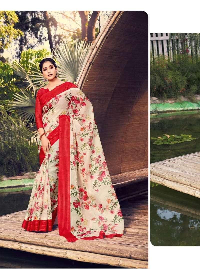 Lifestyle Akansha Puri Muslin Cotton Printed Sarees Collection 011