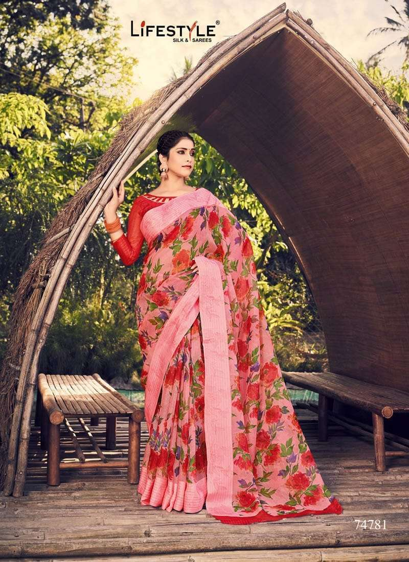 Lifestyle Akansha Puri Muslin Cotton Printed Sarees Collection 012