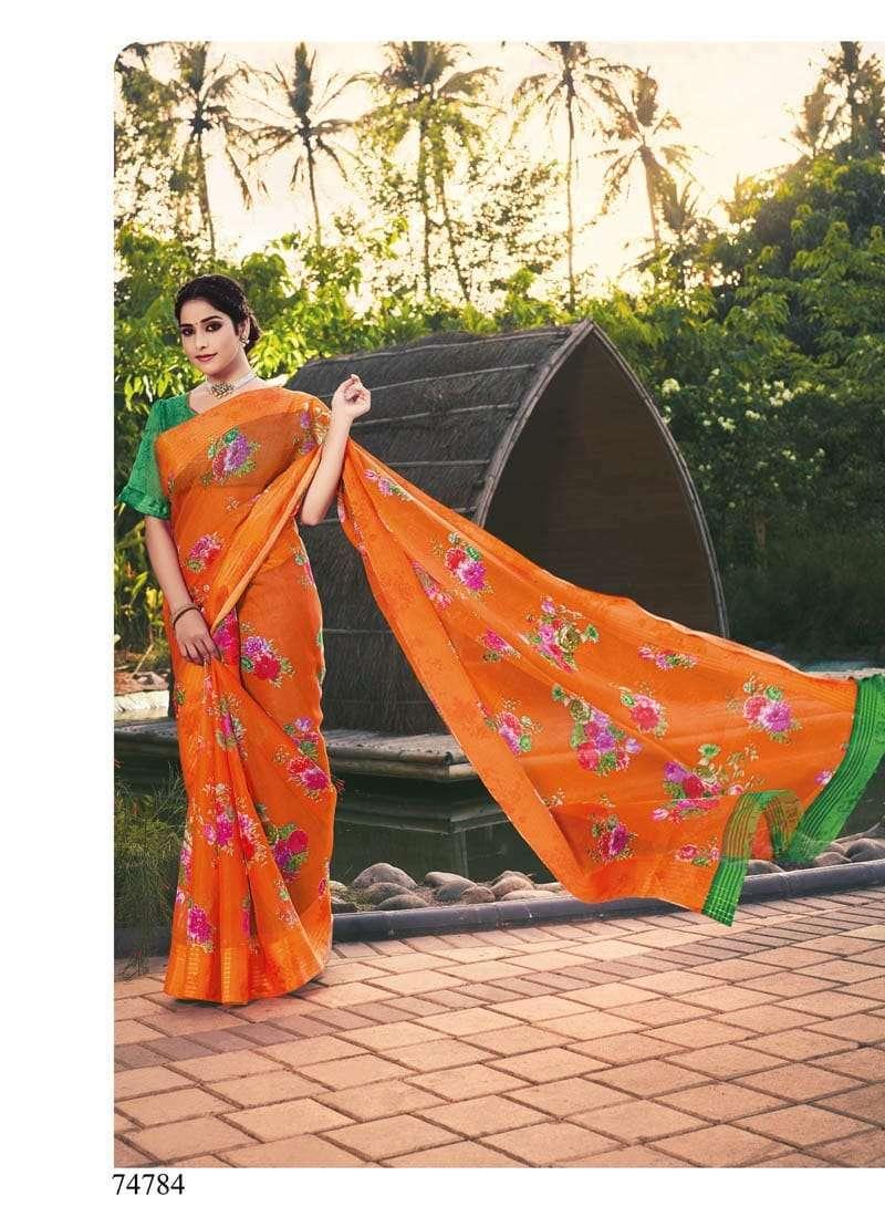 Lifestyle Akansha Puri Muslin Cotton Printed Sarees Collection 07