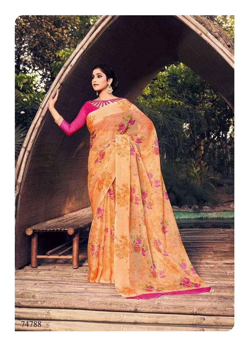Lifestyle Akansha Puri Muslin Cotton Printed Sarees Collection 10