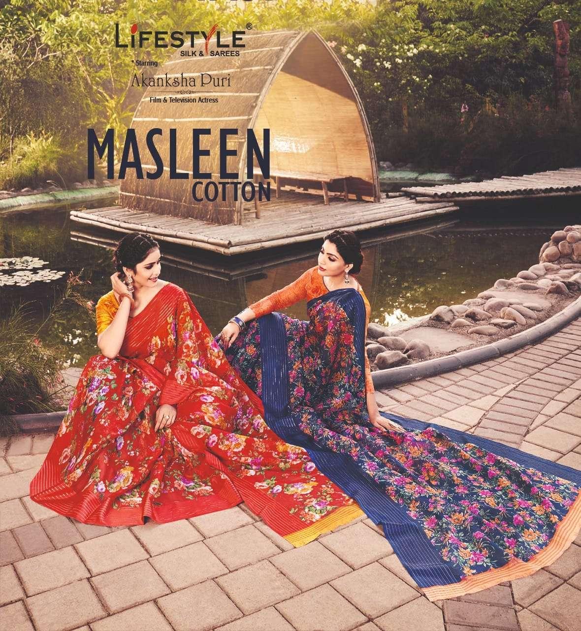 Lifestyle Akansha Puri Muslin Cotton Printed Sarees collection