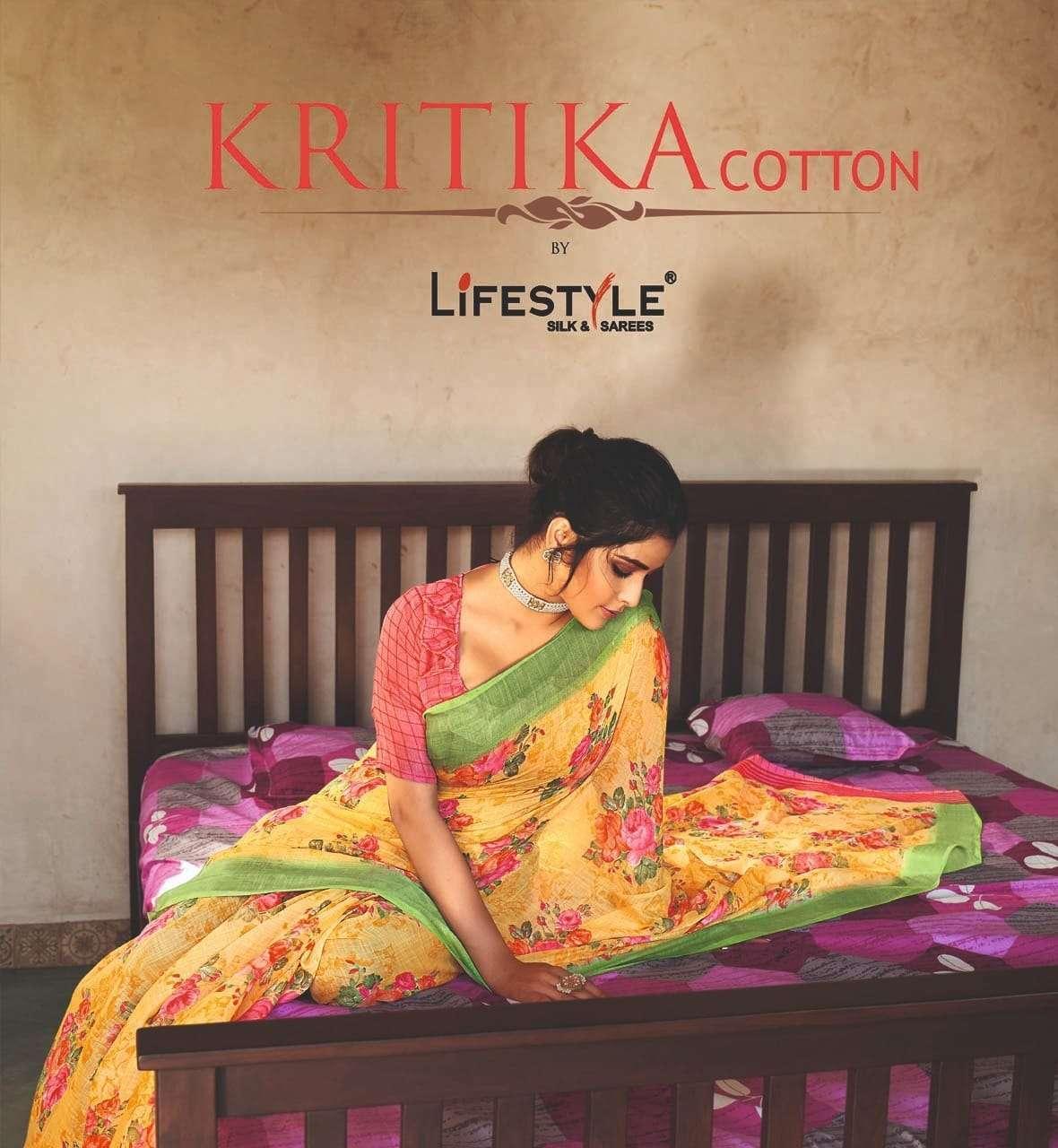 Lifestyle Kritika Cotton Linen Silk Printed Sarees collection