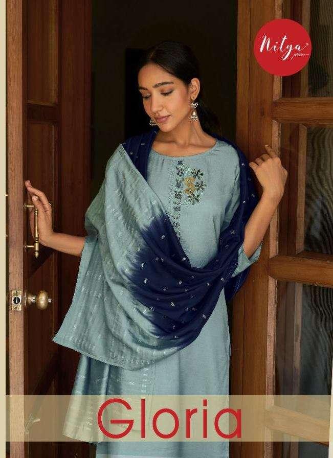 LT Fabrics Nitya Gloria Viscose With hand Work Kurtis with Bottom Dupatta Collection