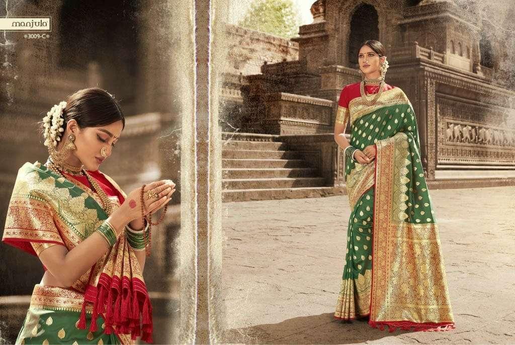 Manjula Vandana Silk Designer Sarees Collection 02