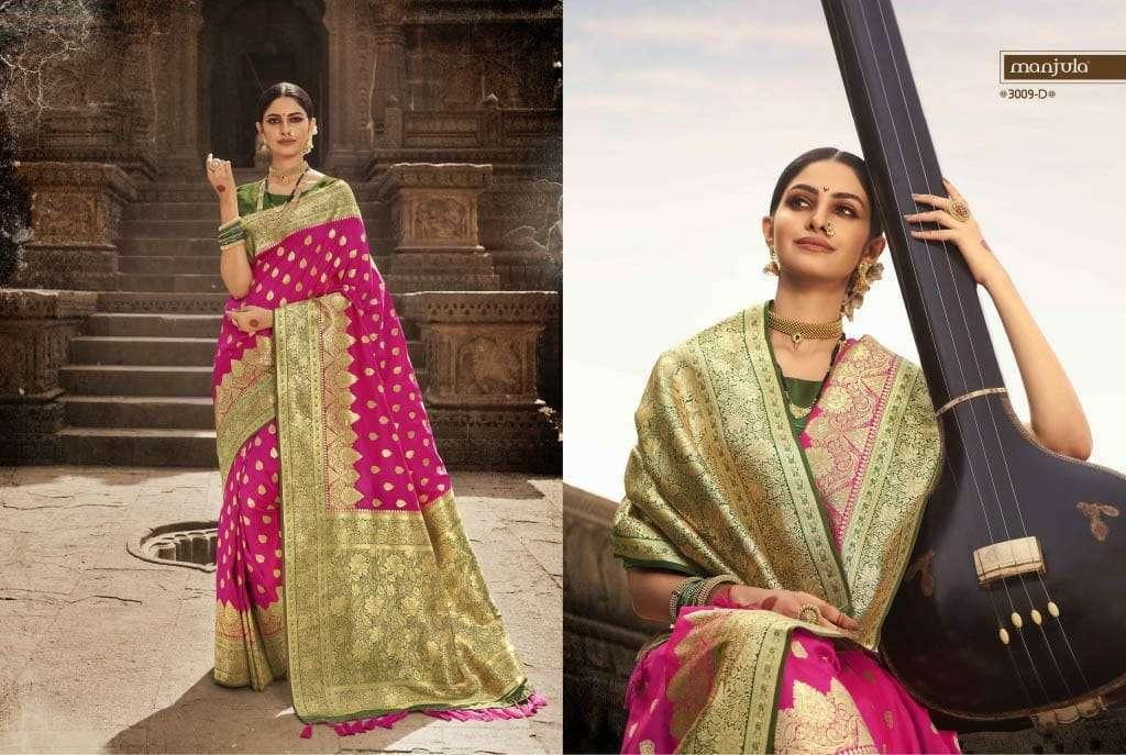 Manjula Vandana Silk Designer Sarees Collection 04D