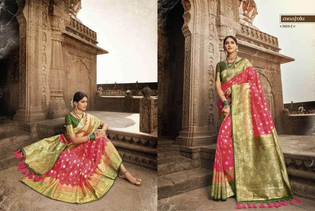 Manjula Vandana Silk Designer Sarees Collection 06