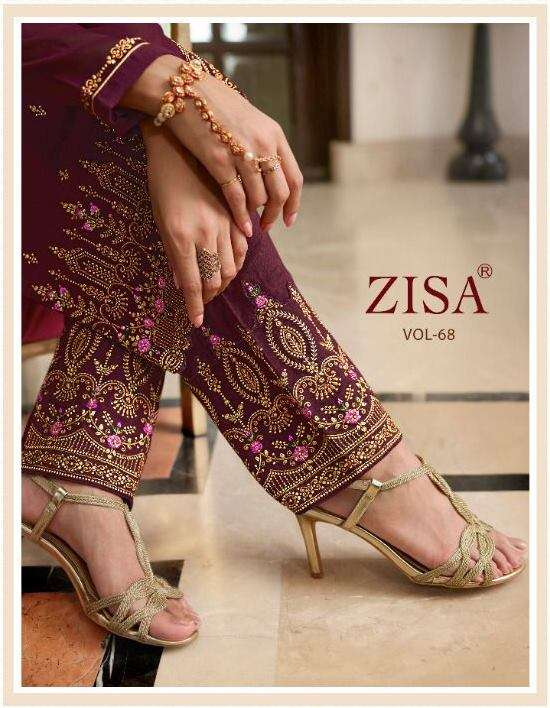 Meera Trendz Zisa Vol 68 Georgette With Embroidery Work Dress Material Collection