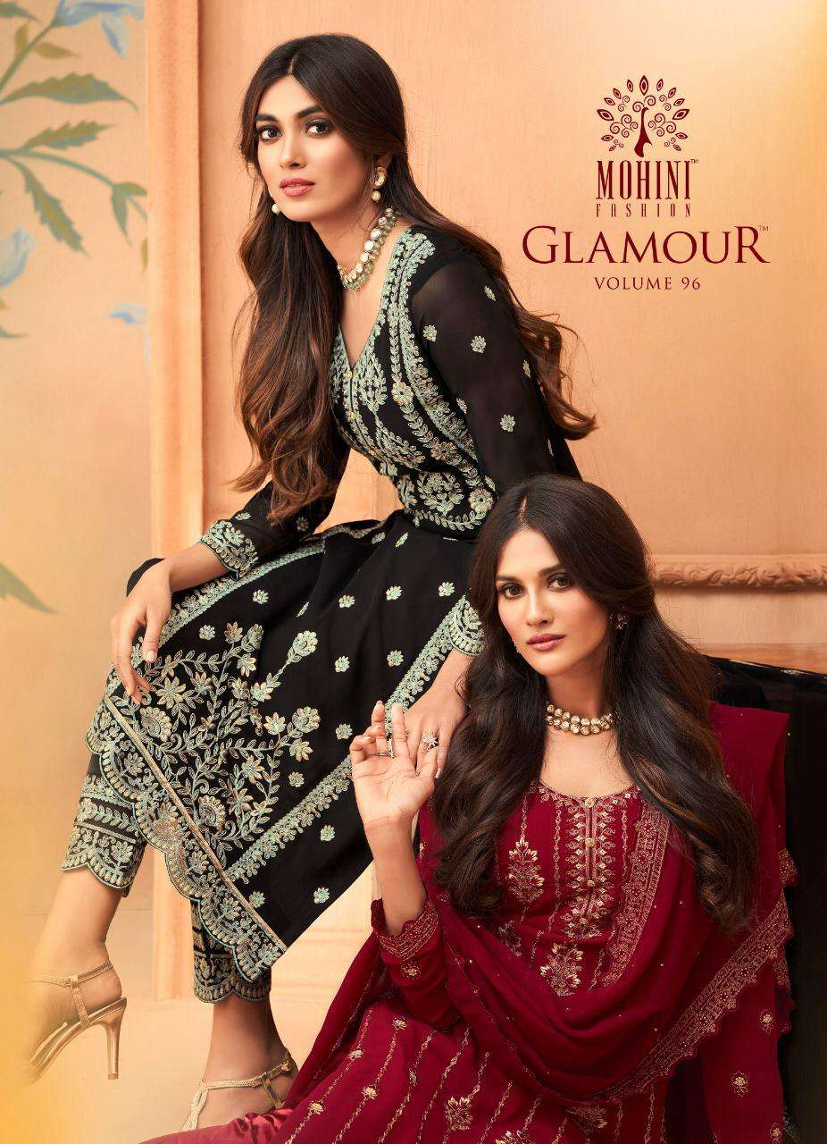 Mohini Fashion Glamour Vol 96 Georgette With heavy Embroidery Work Dress Material collection