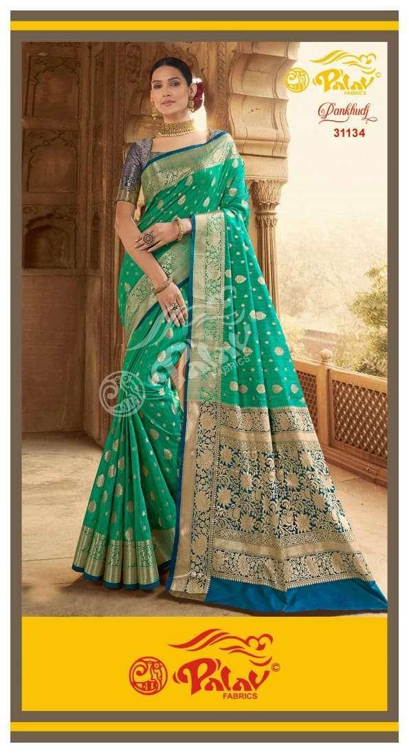 Palav Fabrics Pankhudi Silk Sarees Collection 04