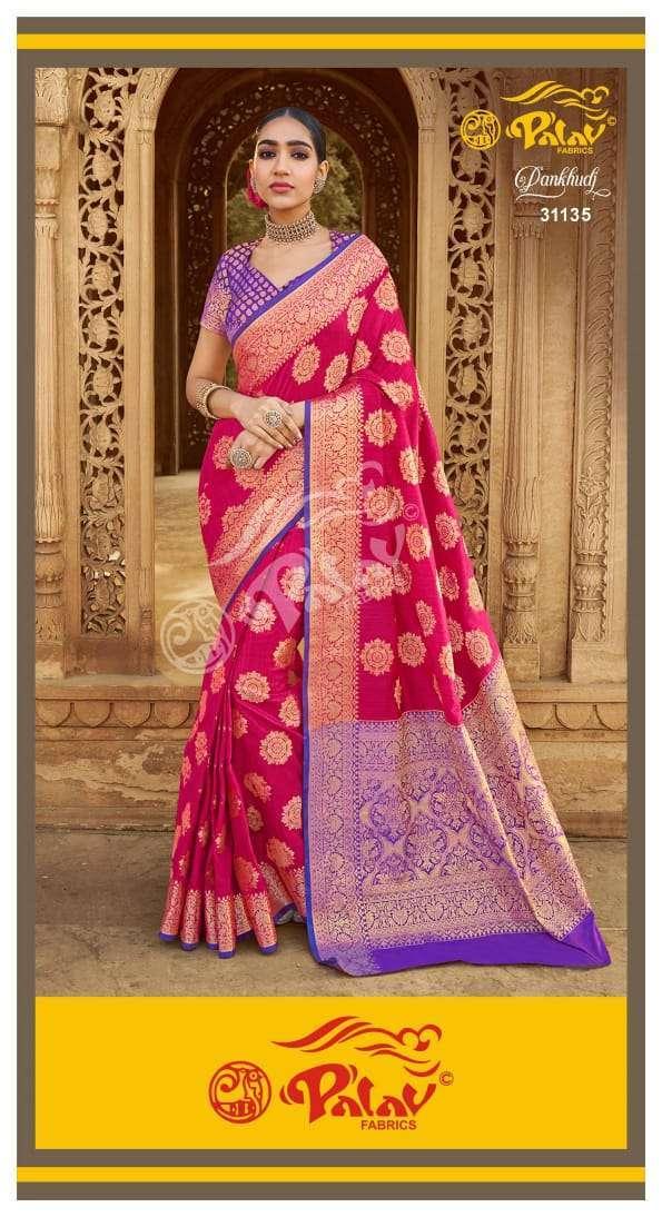 Palav Fabrics Pankhudi Silk Sarees Collection 05