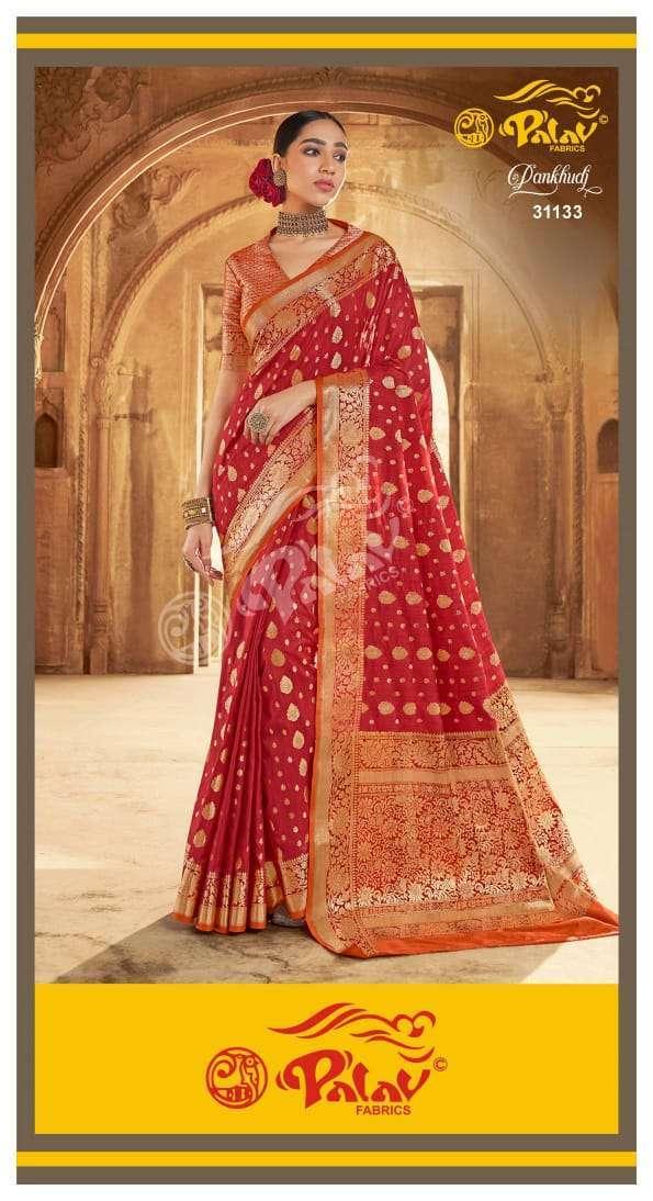 Palav Fabrics Pankhudi Silk Sarees Collection 06