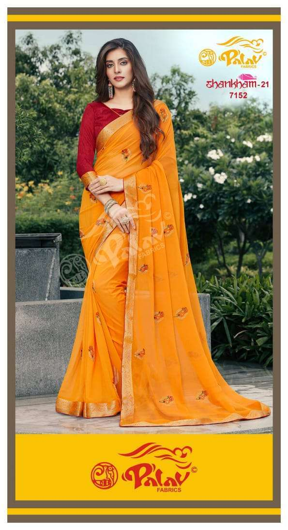 Palav Fabrics Shankham Vol 21 Georgette With Work Sarees Collection 09