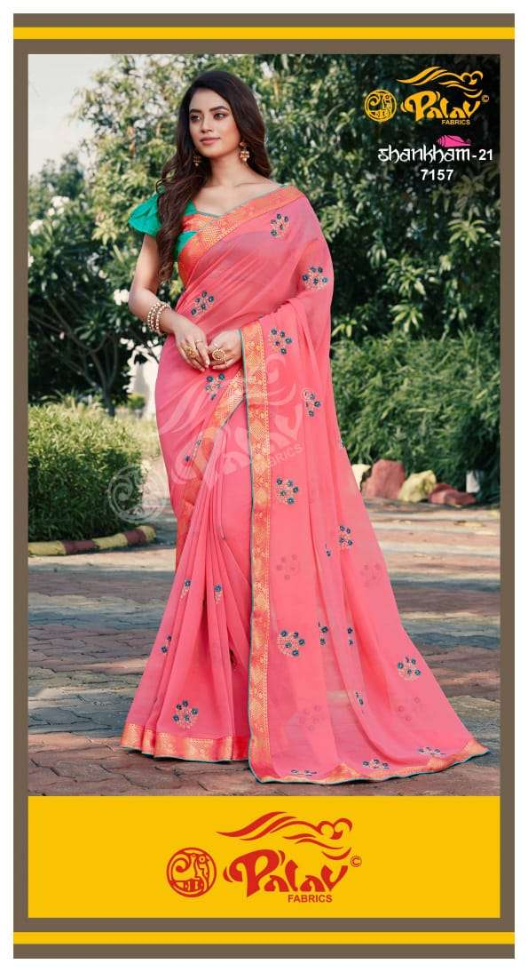 Palav Fabrics Shankham Vol 21 Georgette With Work Sarees Collection
