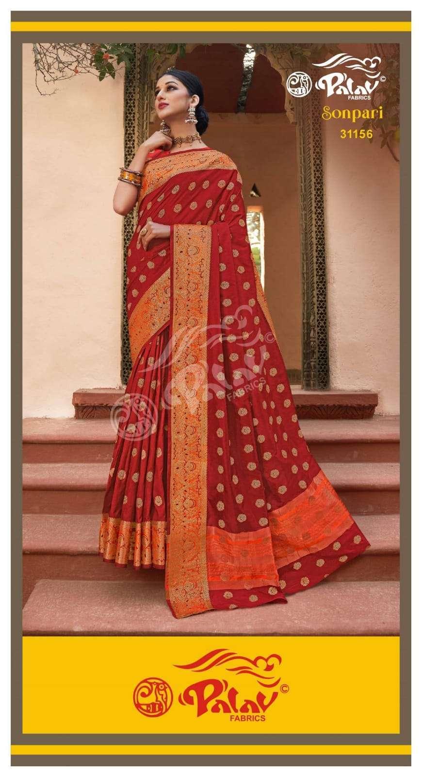 Palav Fabrics Sonpari Silk Traditional Sarees Collection 02