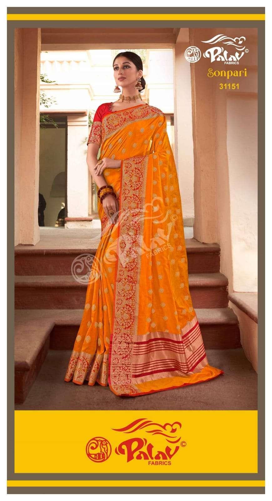 Palav Fabrics Sonpari Silk Traditional Sarees Collection 03