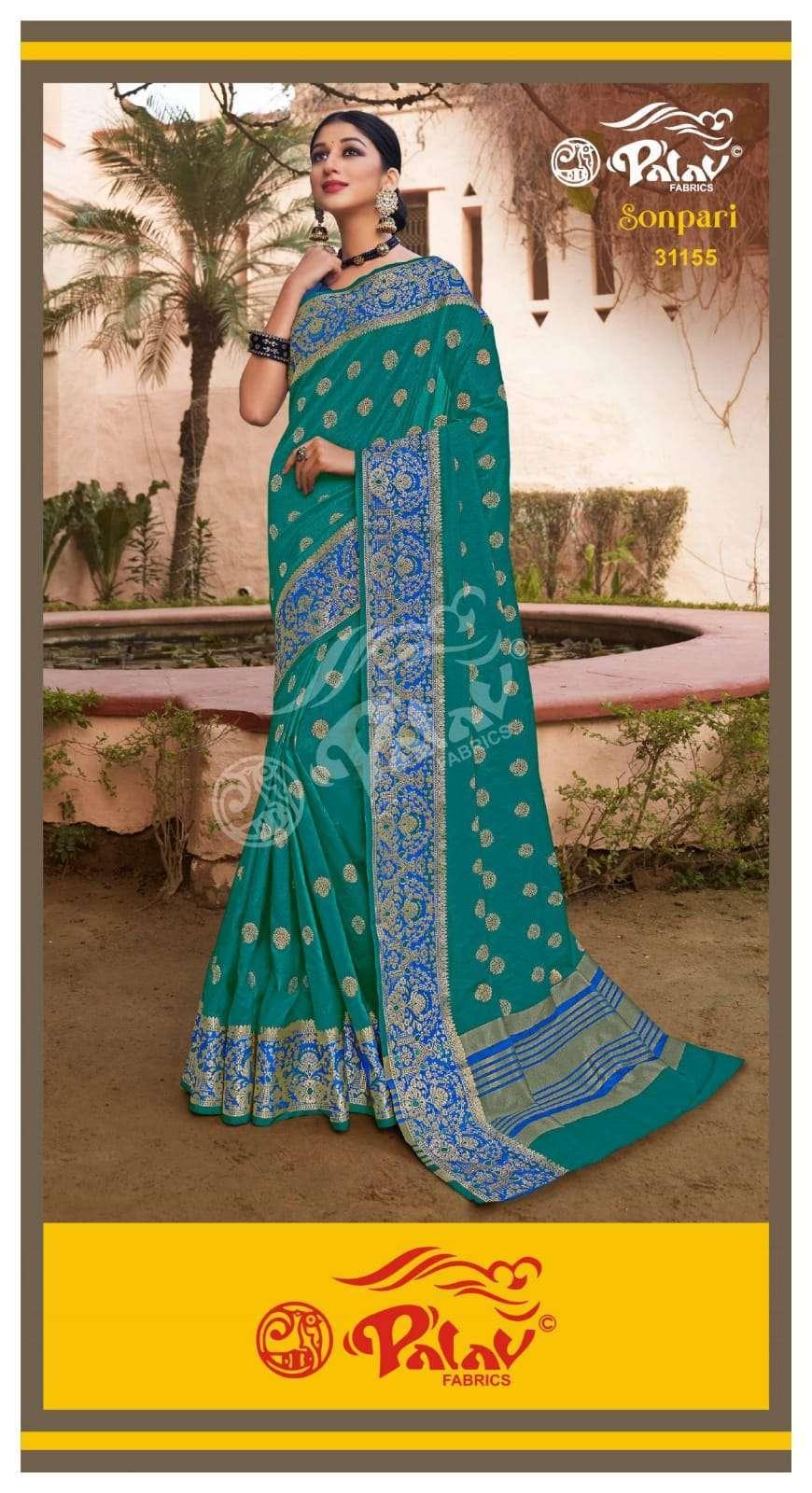 Palav Fabrics Sonpari Silk Traditional Sarees Collection 04