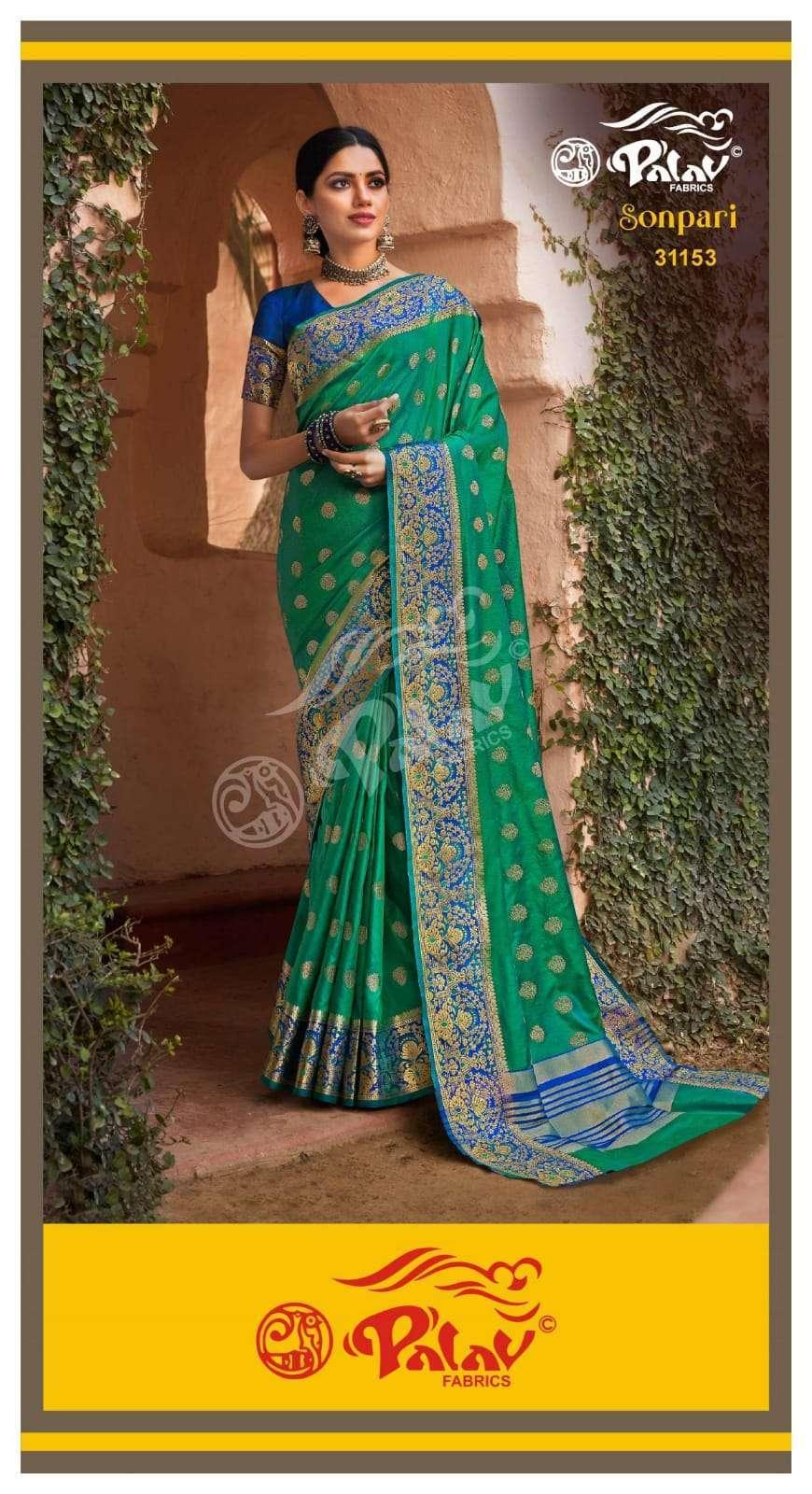 Palav Fabrics Sonpari Silk Traditional Sarees Collection 05