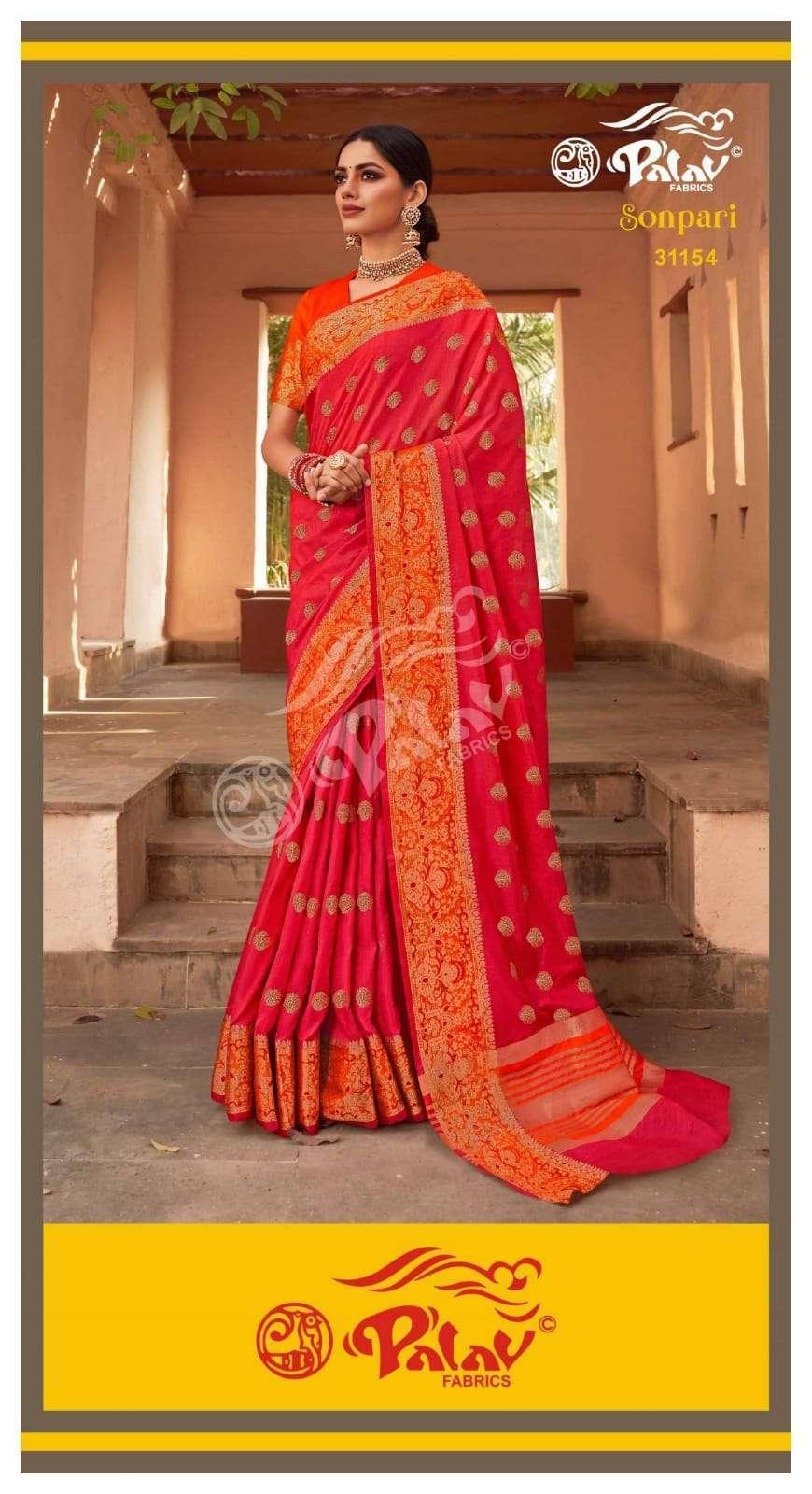 Palav Fabrics Sonpari Silk Traditional Sarees Collection 06