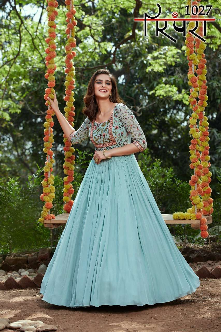 Parampara Vol 6 Georgette With Sequence Embroidery Work Readymade Suits Collection 03