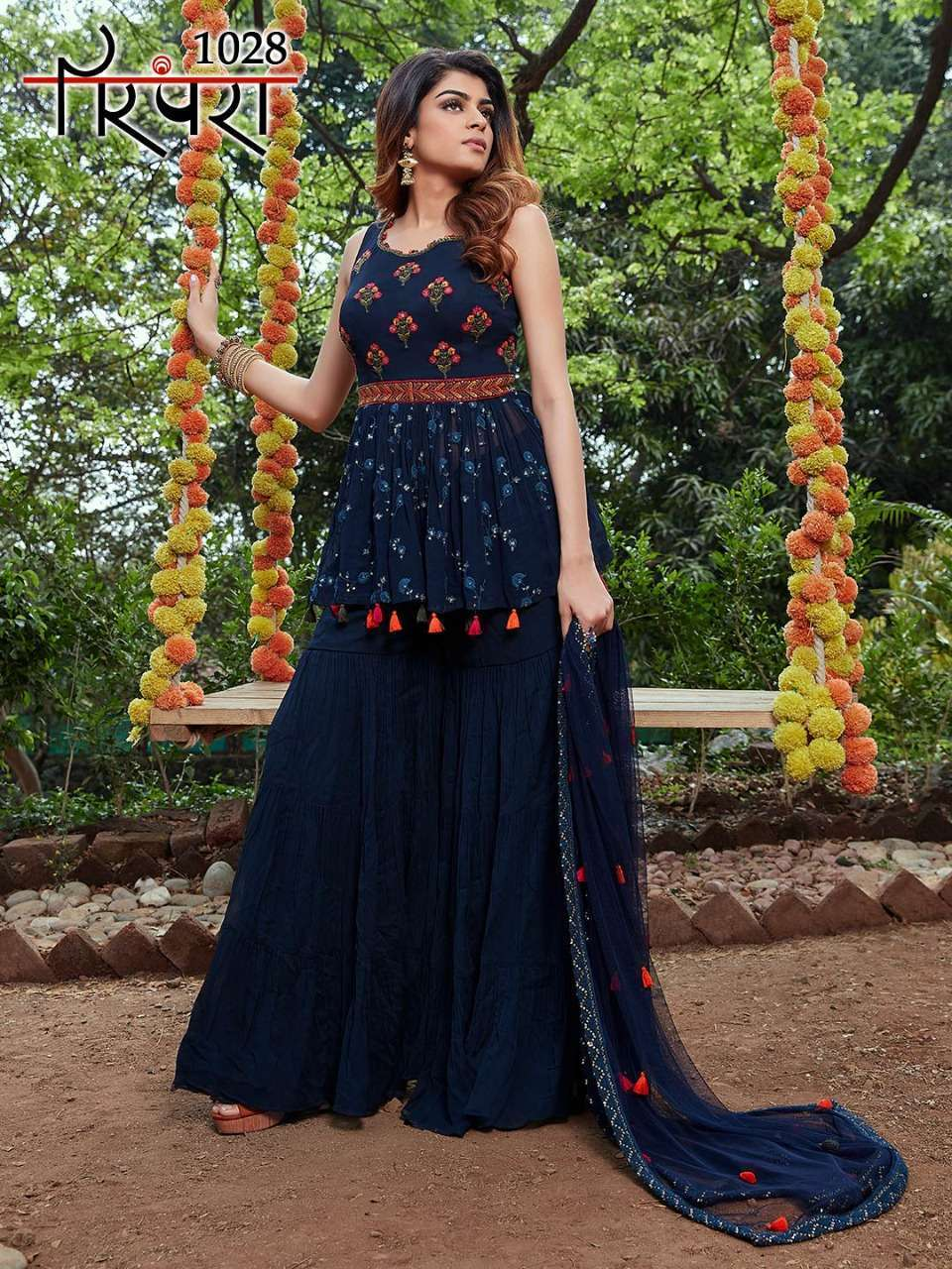 Parampara Vol 6 Georgette With Sequence Embroidery Work Readymade Suits Collection 04