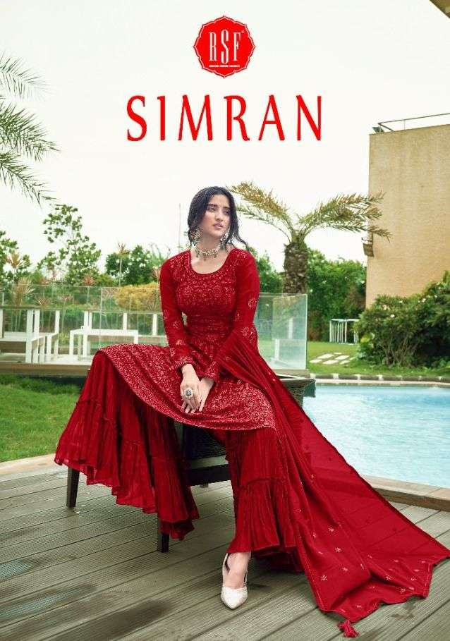 RSF Simran Faux Georgette With Sequence Embroidery Work Salwar Kameez Collection