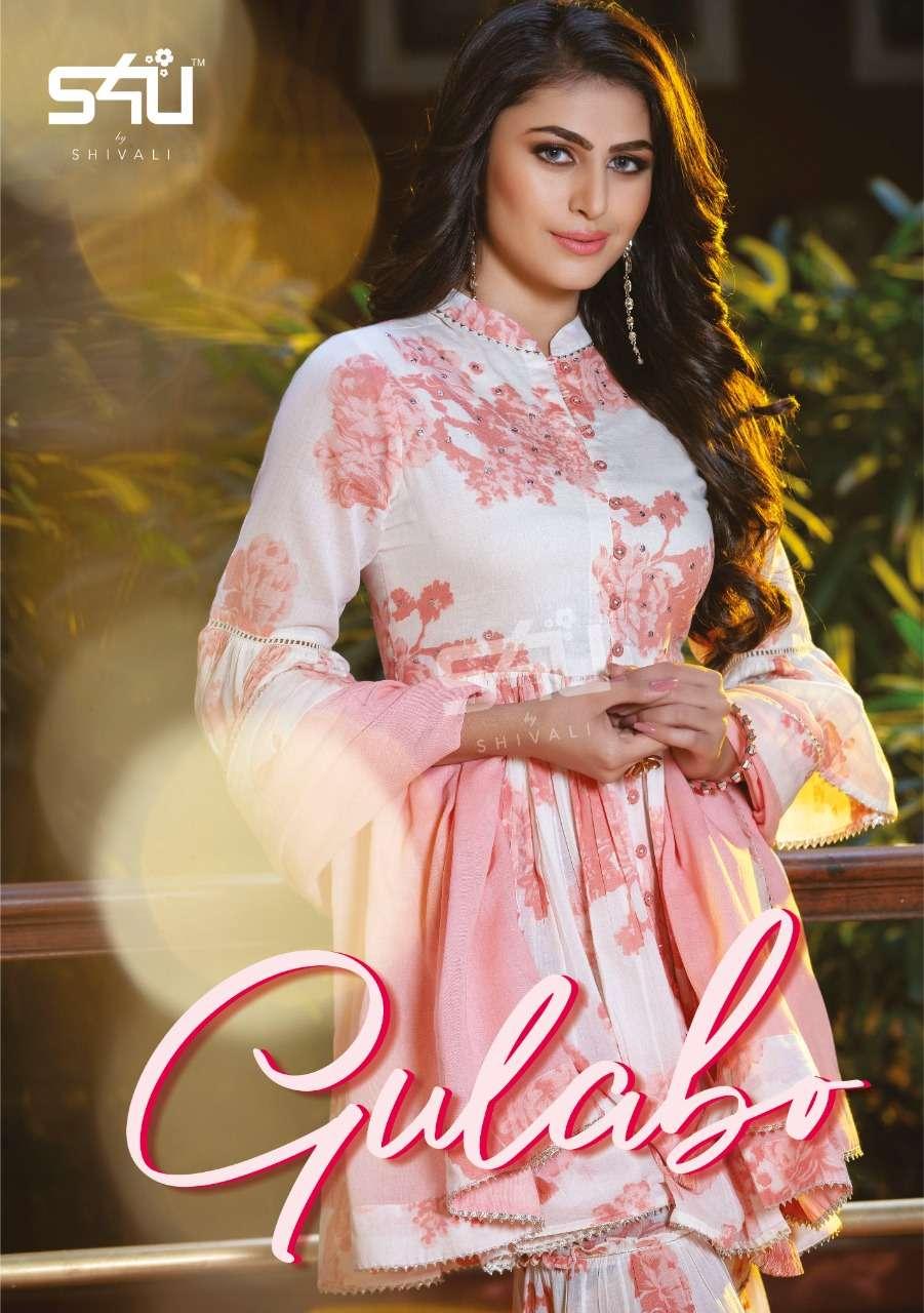 S4U Gulabo Cotton Print With Work Fancy Sharara Collection
