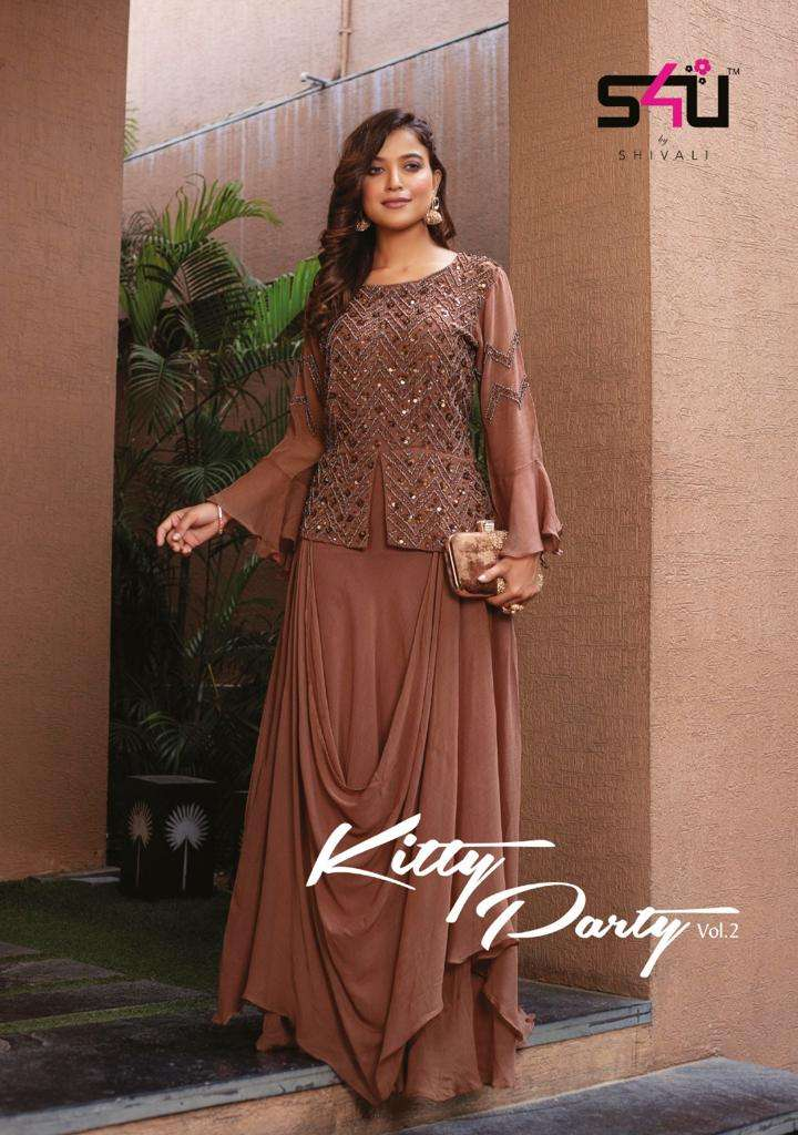 S4U Kitty party Vol 2 Fancy With hand Work Designer Salwar Kameez Collection