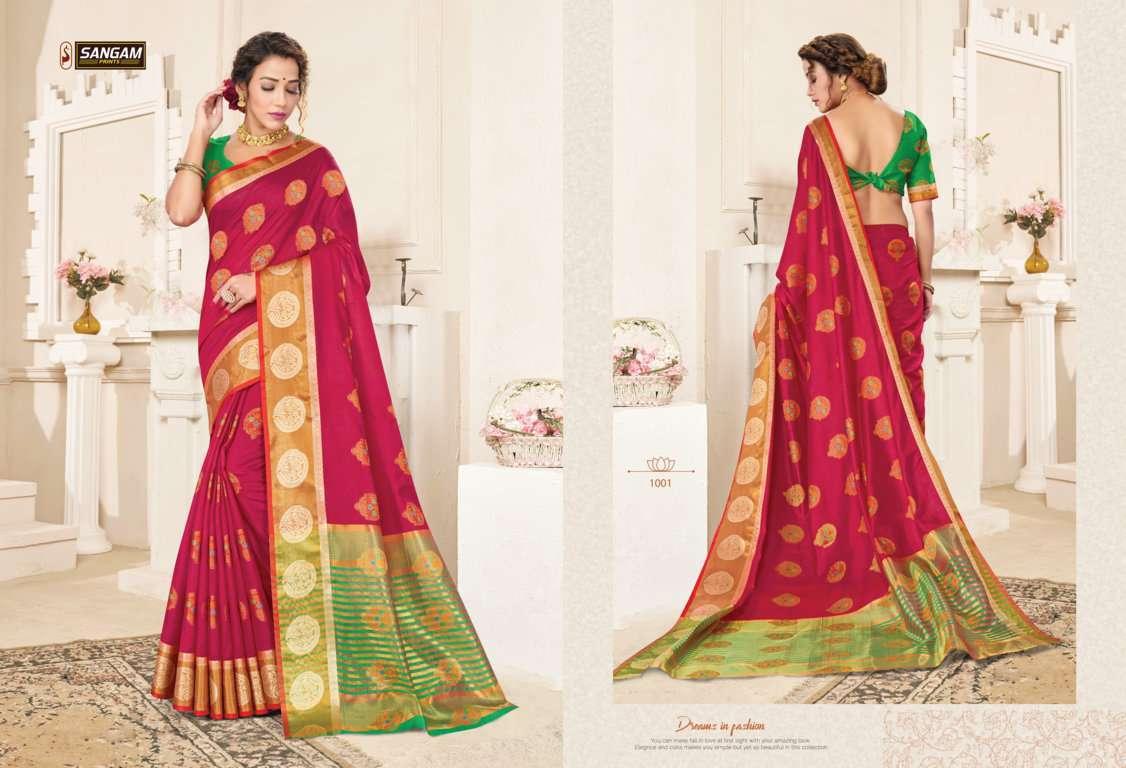 Sangam Prints Alankar Cotton Handloom Sarees Collection 02