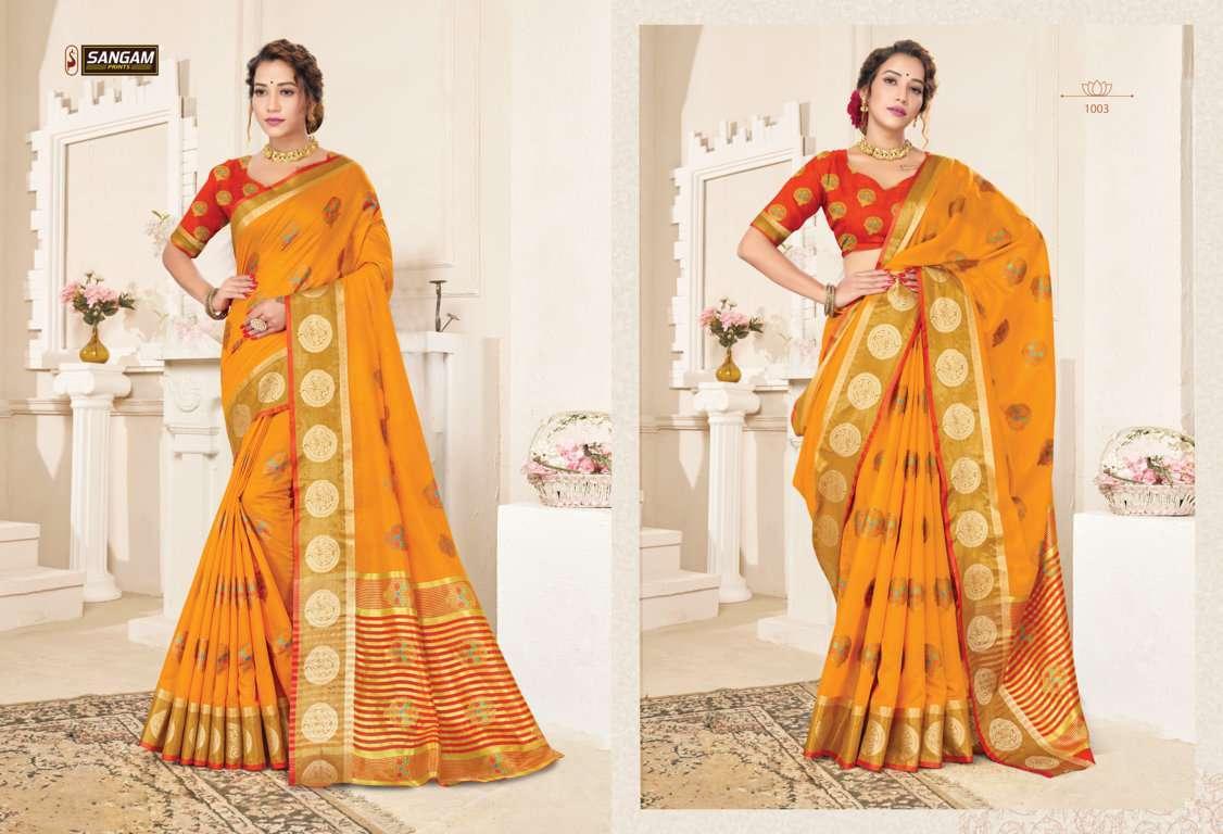 Sangam Prints Alankar Cotton Handloom Sarees Collection 04