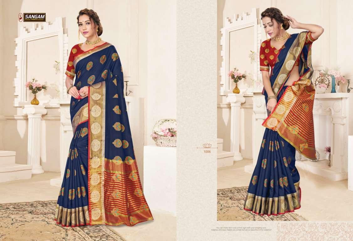 Sangam Prints Alankar Cotton Handloom Sarees Collection 05