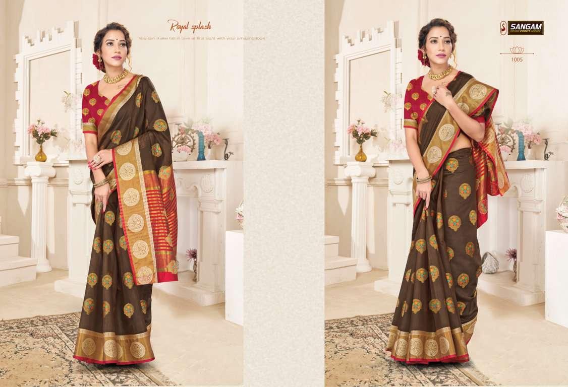 Sangam Prints Alankar Cotton Handloom Sarees Collection 06