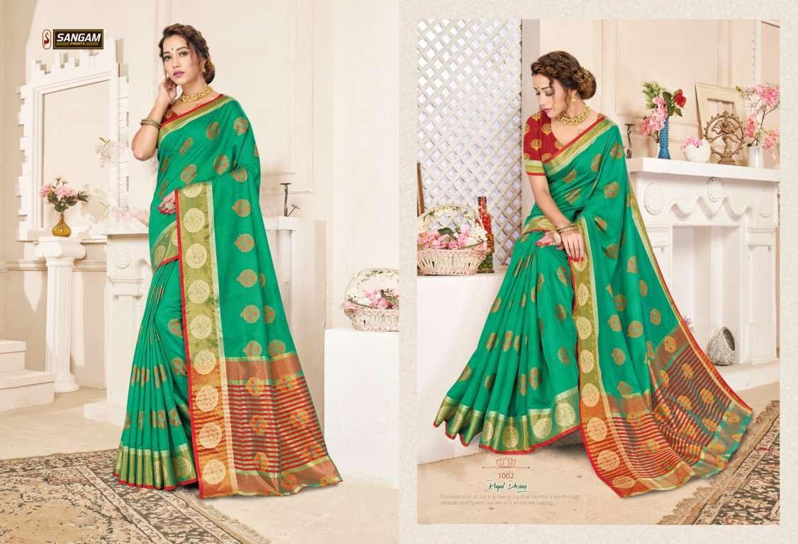 Sangam Prints Alankar Cotton Handloom Sarees Collection01