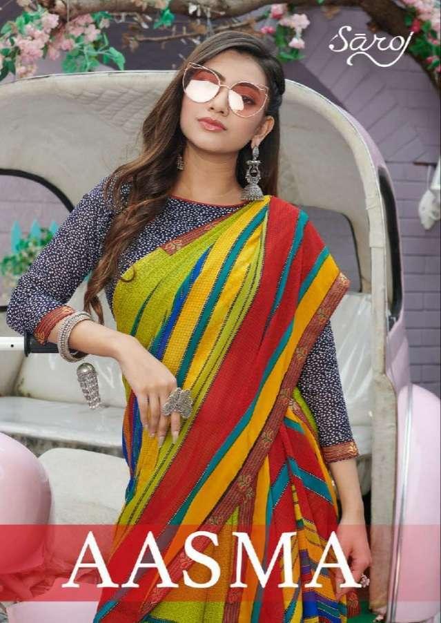 Saroj Aasma Georgette Printed Sarees collection