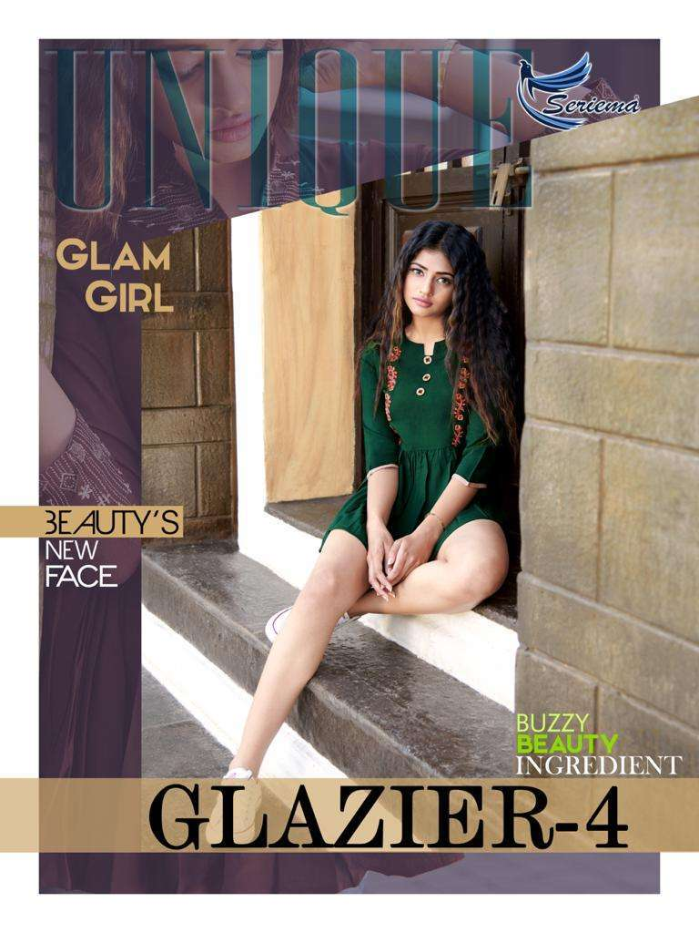 Seriema Glazier Vol 4 Rayon With embroidery Work western Tops collection