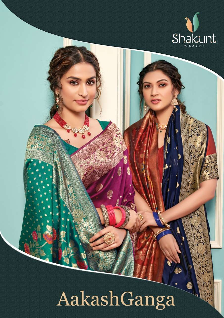 Shakunt Weaves Akash Ganga Art Silk Traditional Sarees collection
