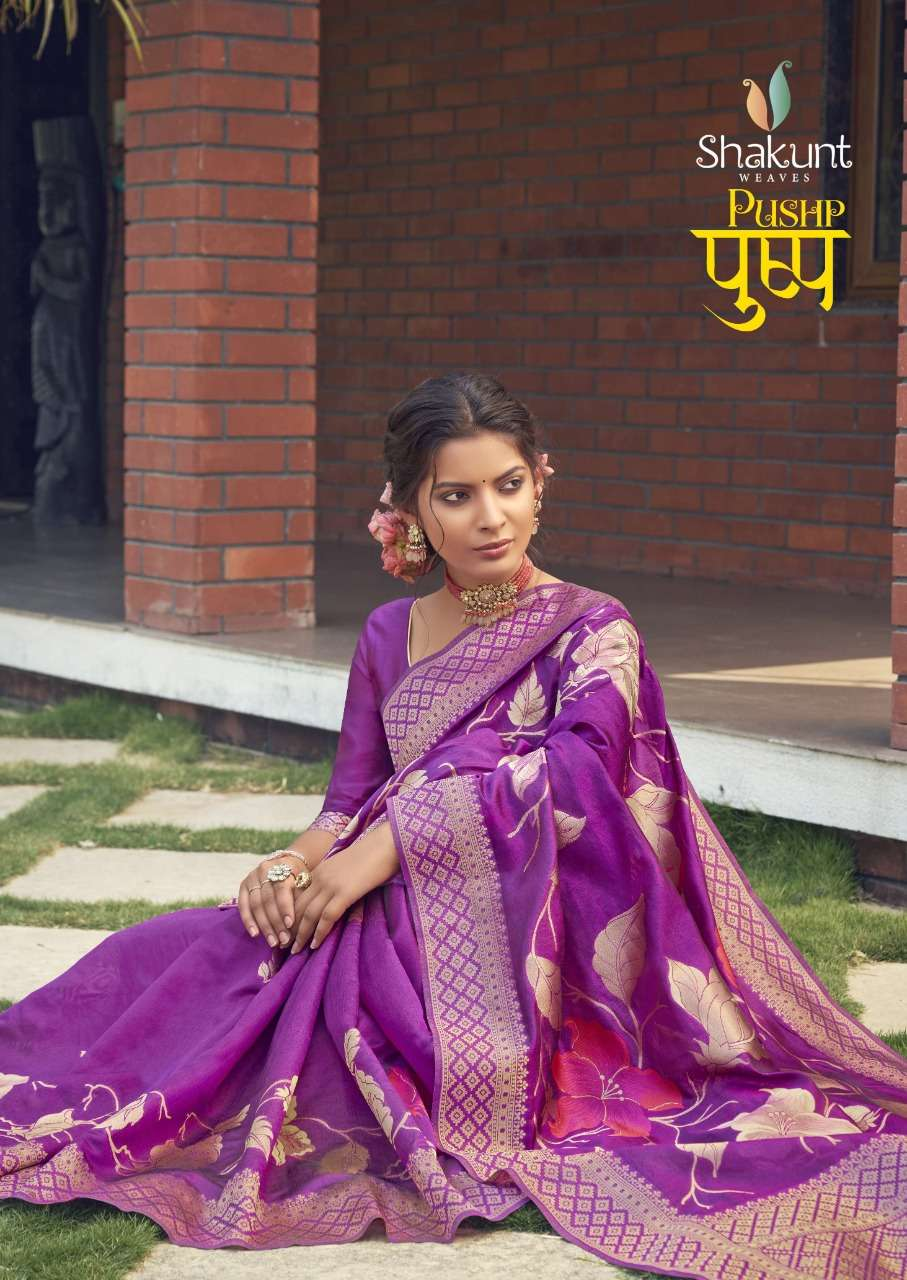 Shakunt weaves Pushp Cotton weaving Sarees Collection