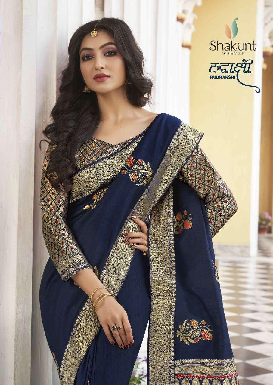 Shakunt weaves Rudrakshi art silk Sarees collection