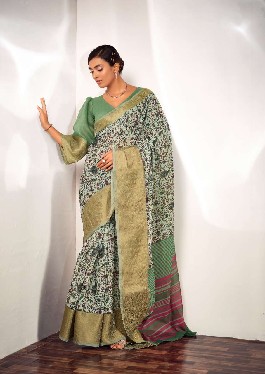 Sr Sarees Mahira Pure Handloom With Maheshwari Antique Kanchi Border Sarees Collection 09
