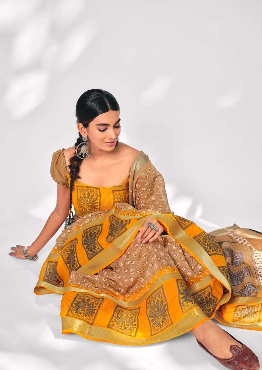 SR Sarees Prisha Soft Cotton With weaving Border Sarees Collection