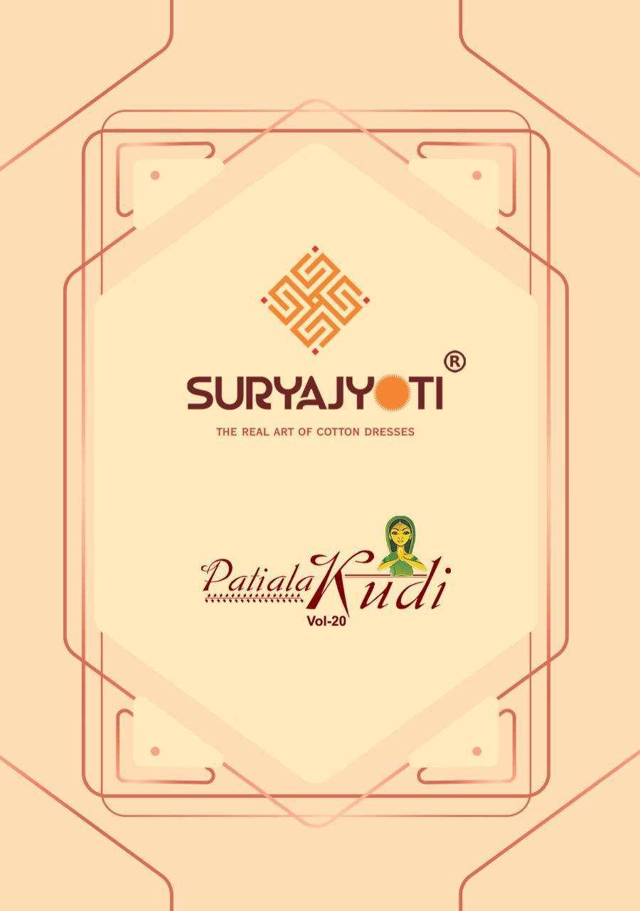 Suryajyoti Patiala Kudi Vol 20 Cotton Printed Dress Material collection