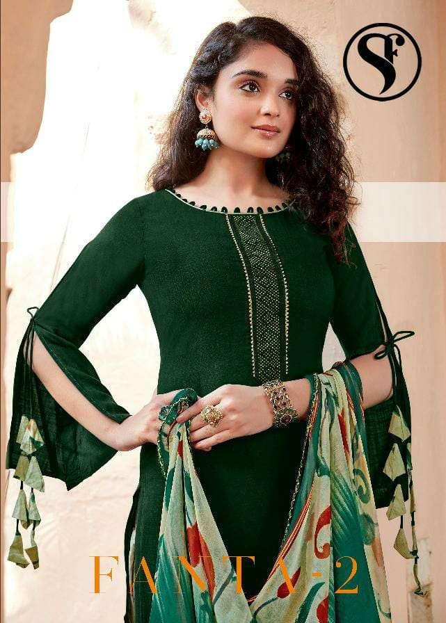 Sweety Fashion Fanta Vol 2 Pure rayon With Swarovski diamond Work dress Material collection