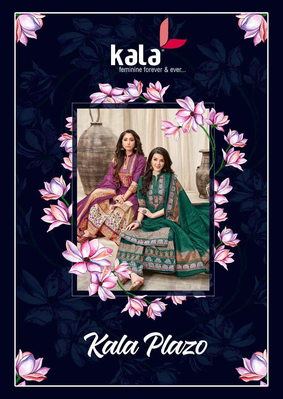 Tarika Creation Kala Plazo Cotton printed Dress Material collection