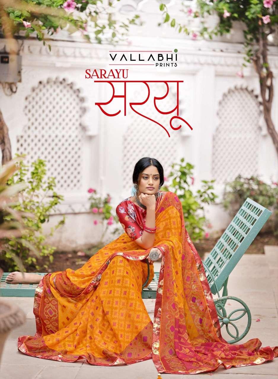 Vallabhi Prints Sarayu Georgette Printed Sarees collection
