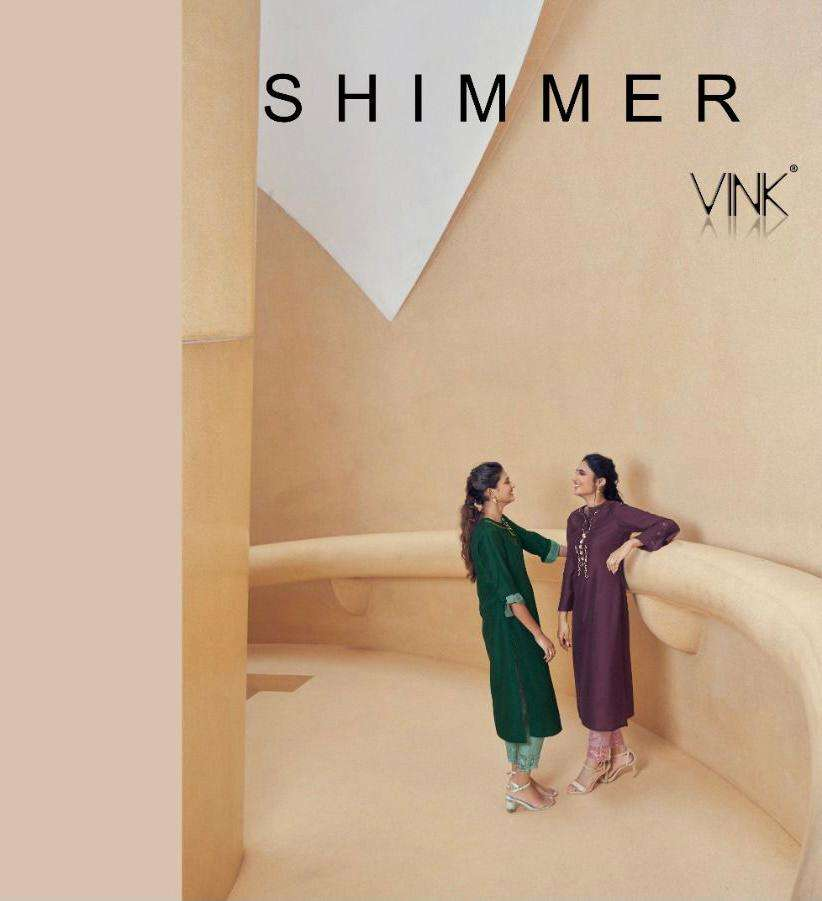 Vink Shimmer Silk With Mukaish work Kurtis With Pant And Dupatta collection