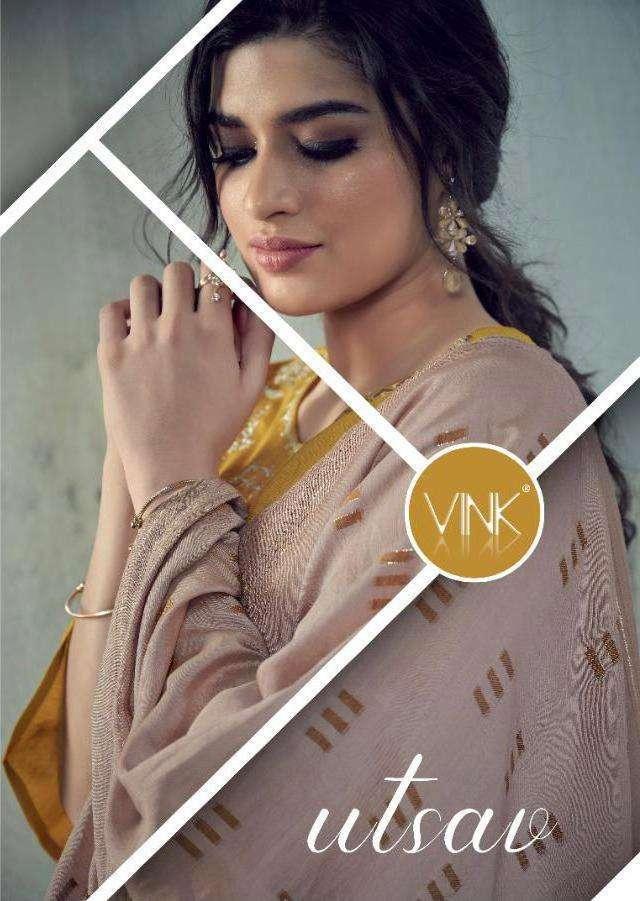 Vink Utsav Viscose Silk With Embroidery Work Kurtis With Bottom Dupatta Collection