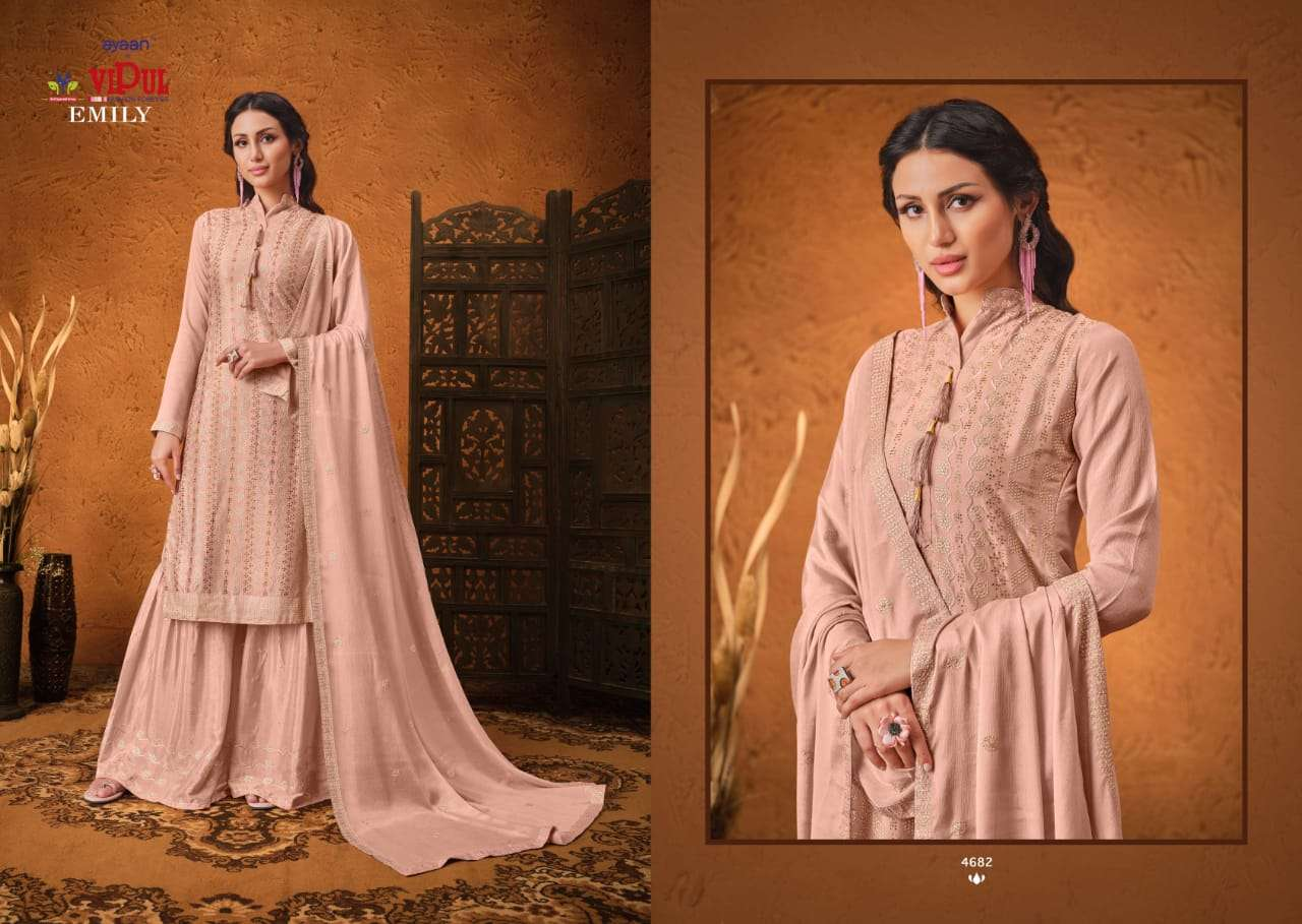 VIPUL EMILY CHINON SEQUENCE WITH HAND WORK SALWAR KAMEEZ COLLECTION 01