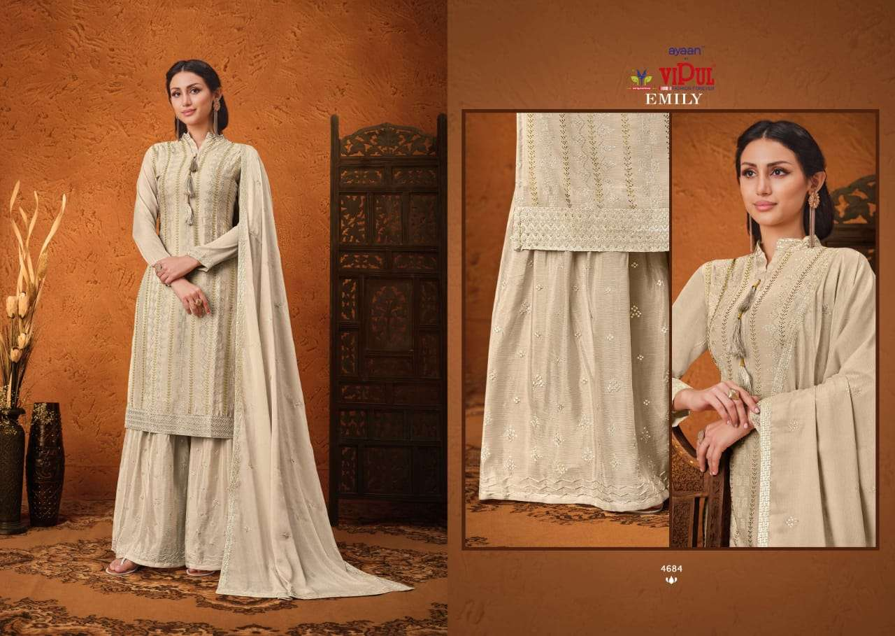 VIPUL EMILY CHINON SEQUENCE WITH HAND WORK SALWAR KAMEEZ COLLECTION 02